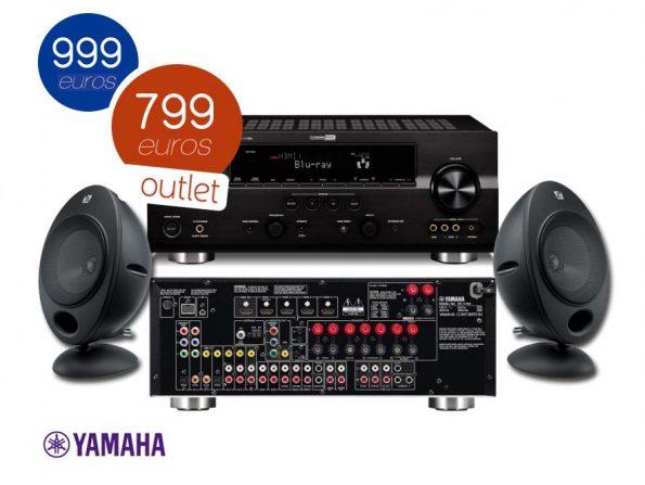 Receptor Yamaha RX-V465 y KEF HTS2001.2